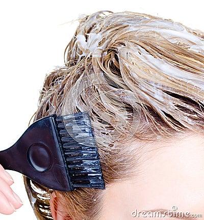 Kvinna för färgläggningfragmenthuvud s