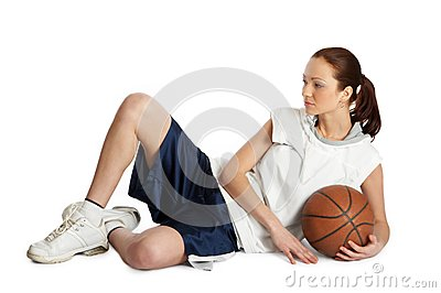 Kvinnlig korgbasebollspelare