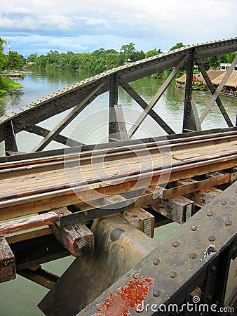 Free Kwai River Bridge Kanchanaburi Thailand Stock Photos - 83623