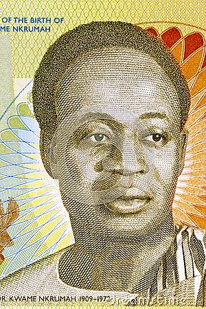 Kwame Nkrumah Redaktionell Arkivbild