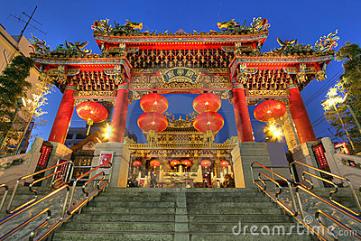 Kwan Tai Temple, Yokohama Chinatown, Japan
