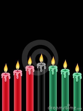 Free Kwanzaa Candles Royalty Free Stock Photos - 16657478