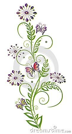 Kwiaty, kwiecisty element