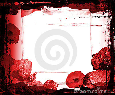 Kwiaty obramiają grunge purpurowy
