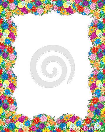Kwiaty obramiają zdjęcie