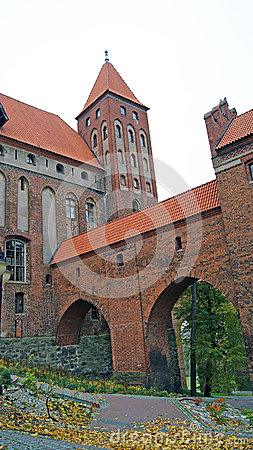 在Kwidzyn的中世纪条顿人城堡