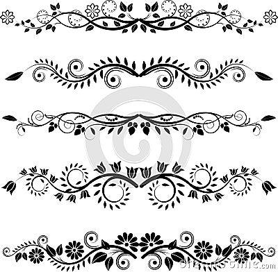 Kwieciste granicy i ornamenty