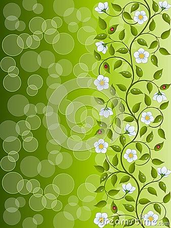Kwiecisty abstrakcjonistyczny tło