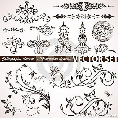 Kwiecisty kaligraficzny element