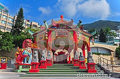 Kwun yam pavilion, hong kong Editorial Photography