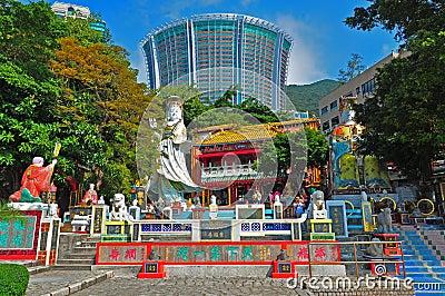 Kwun yam shrine, hong kong Editorial Stock Image