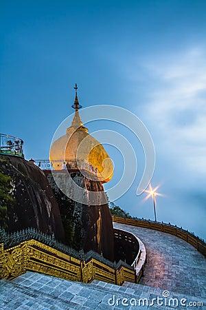 Kyaikhtiyo pagoda Stock Photo