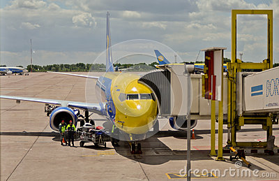 Kyiv Airport Boryspil Editorial Stock Photo