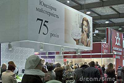 Kyiv Jewelry Factory booth Editorial Stock Image