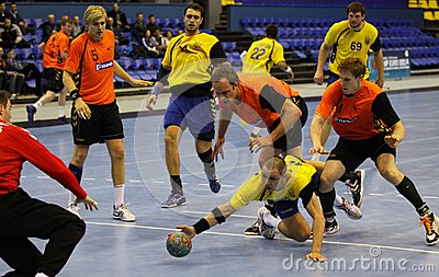 Handball game Ukraine vs Netherlands Editorial Stock Photo