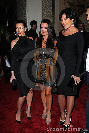 Kyle Richards, Kris Jenner, Kim Kardashian, Four Seasons Editorial Photo