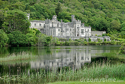 Kylemore Abbey Castle, Galway, Ireland  Editorial Photo