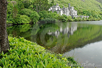 Kylemore Abbey Castle, Galway, Ireland Editorial Photography