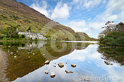 Kylemore Abbey in Connemara Editorial Stock Image