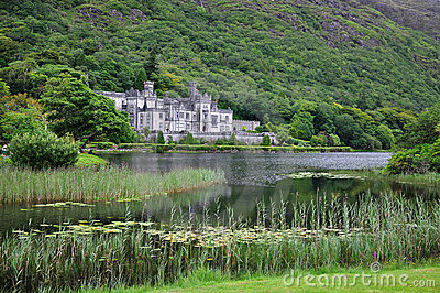 Kylemore Abbey, Ireland Editorial Stock Photo