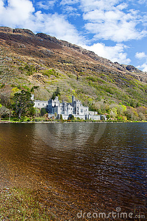 Kylemore Abbey in  Ireland. Editorial Image