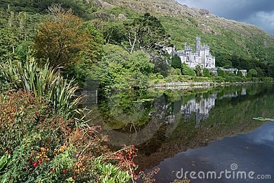 Kylemore abbey  - reflex in lake Editorial Photography