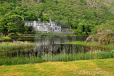 Kylemore Abbey scenery Editorial Photo