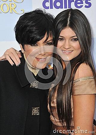 Kylie Jenner,Kris Jenner Editorial Image