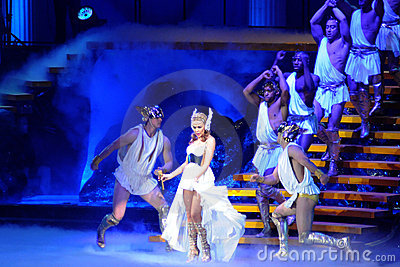 Kylie Minogue in concert Editorial Stock Photo