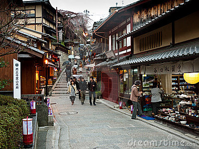 Kyoto alleyway Editorial Image