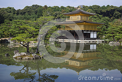 Kyoto Golden Pavilion ( Kinkakuji Temple ). Japan