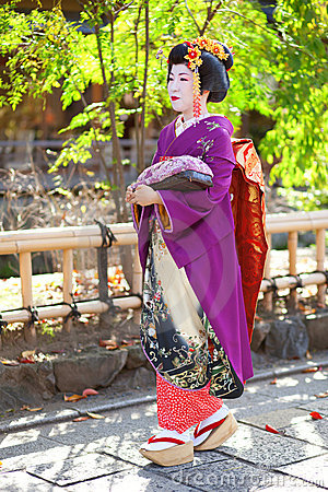 KYOTO, JAPAN - NOVEMBER 8, 2011: Young Maiko Editorial Photo