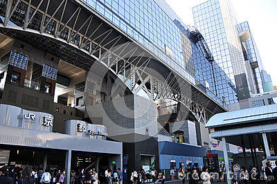 KYOTO, JAPAN - OCT 27: Kyoto Station is Japan s 2nd largest trai Editorial Image