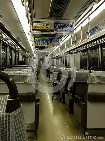 Kyoto metro train Editorial Photography