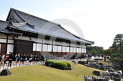 KYOTO- OCT 22: Field visit at Nijo castle Editorial Stock Photo