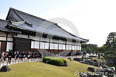 KYOTO- OCT 22: Field visit at Nijo castle Editorial Stock Photo