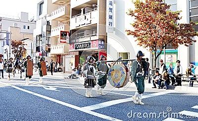 KYOTO - OCT 22: a participant on The Jidai Matsuri Editorial Photography