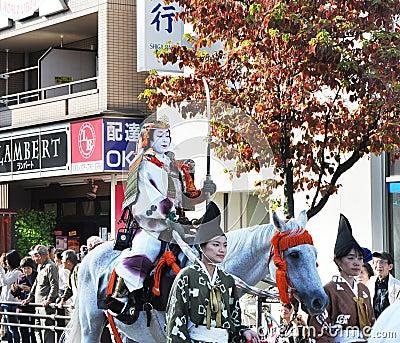 KYOTO - OCT 22: Participants at The Jidai Matsuri Editorial Photography