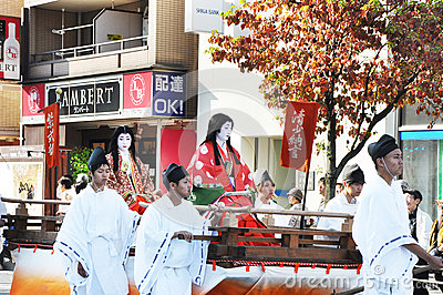 KYOTO - OCT 22: Participants at The Jidai Matsuri Editorial Photography