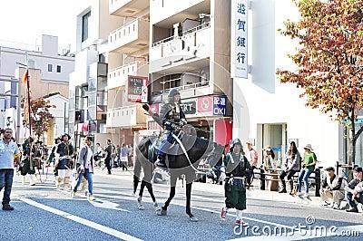 KYOTO - OCT 22:participants on The Jidai Matsuri Editorial Photo