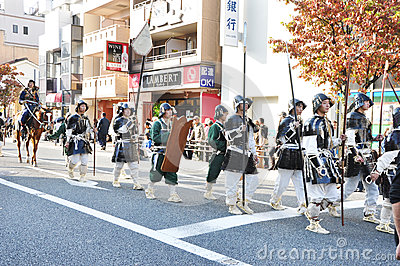 KYOTO - OCT 22: participants on The Jidai Matsuri Editorial Image