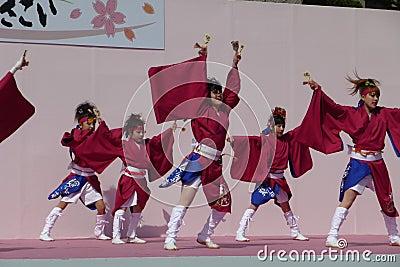 Kyoto Sakura Yosakoi 2010 - Dance festival Editorial Image
