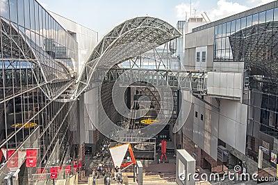 Kyoto station, Japan Editorial Stock Photo