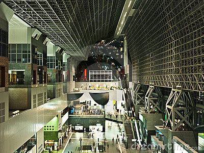 Kyoto Station, modern architecture Editorial Stock Photo