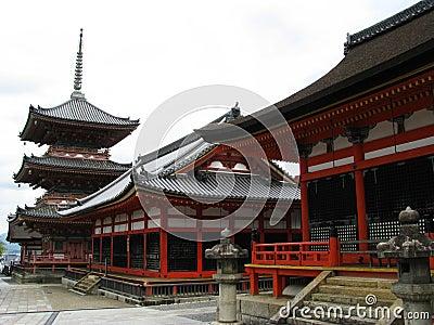 Kyoto temple buildings