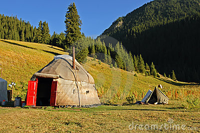 Kyrgyz national nomad s tent - yurt