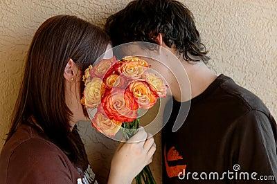 Kyssande tonår