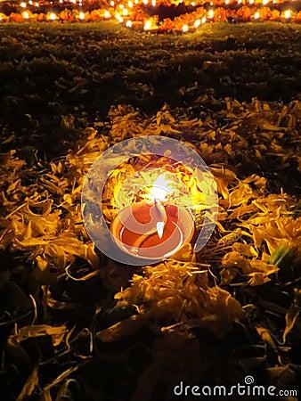 Lámpara del ritual de Diwali