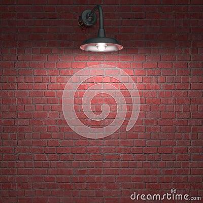Lámpara durante la noche