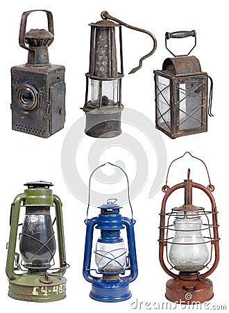 L mparas viejas de la gasolina imagen de archivo imagen 14674291 - Lamparas asiaticas ...